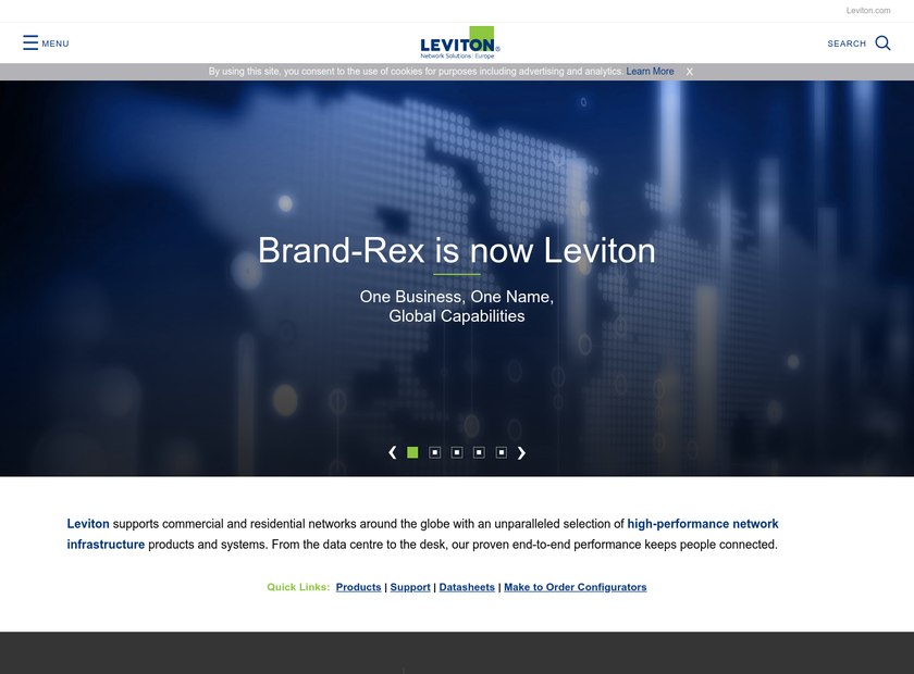 Brand-Rex Ltd homepage screenshot