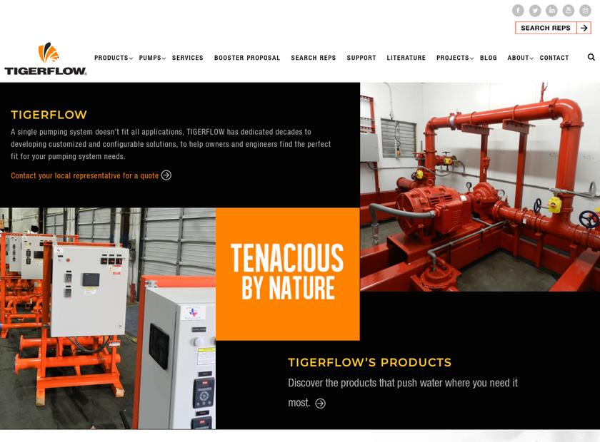 TIGERFLOW Systems LLC homepage screenshot