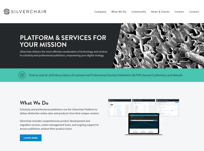 Silverchair Learning Systems homepage screenshot