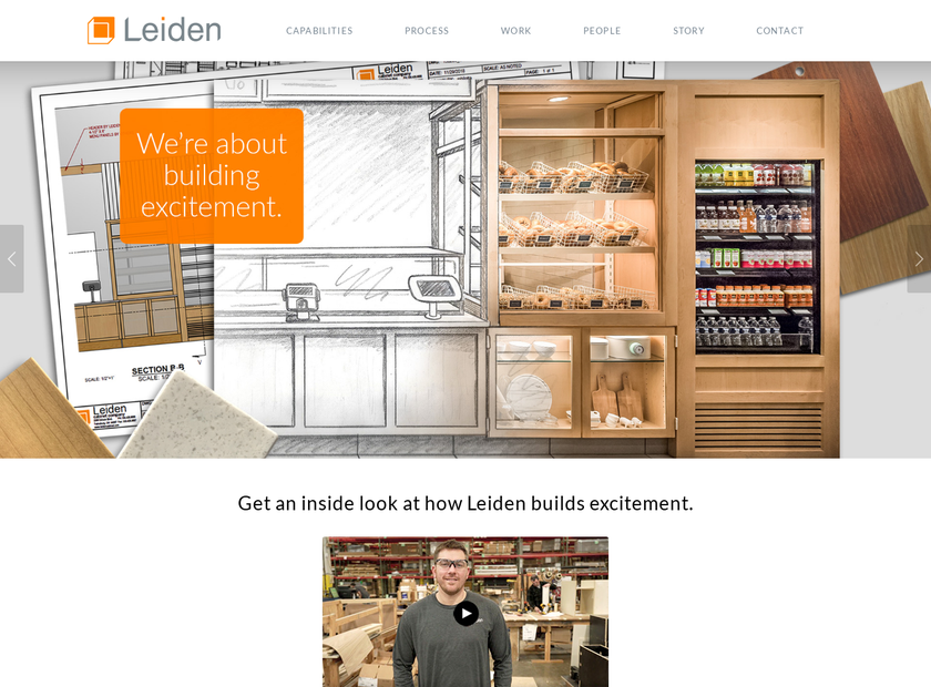 Leiden Cabinet Company homepage screenshot