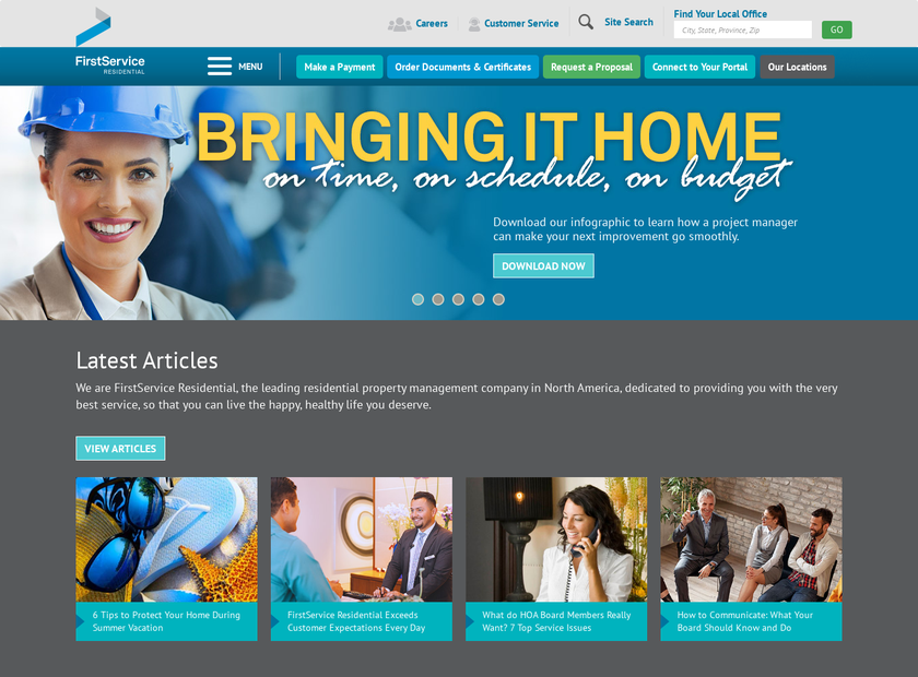 Wentworth Property Management Corp homepage screenshot