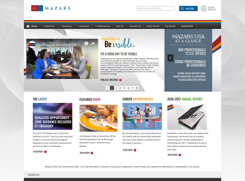 WeiserMazars LLP homepage screenshot