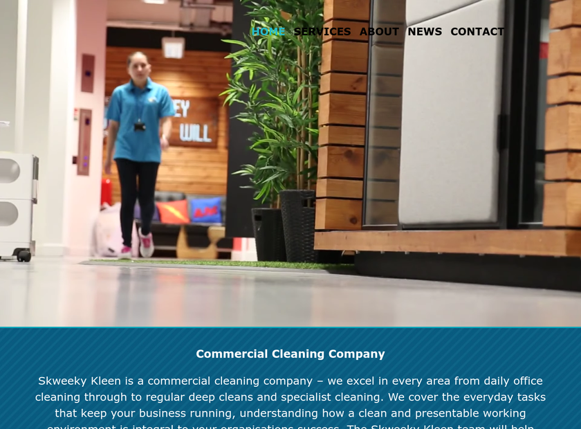 Skweeky Kleen homepage screenshot