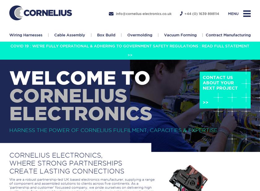 Cornelius Electronics Ltd homepage screenshot