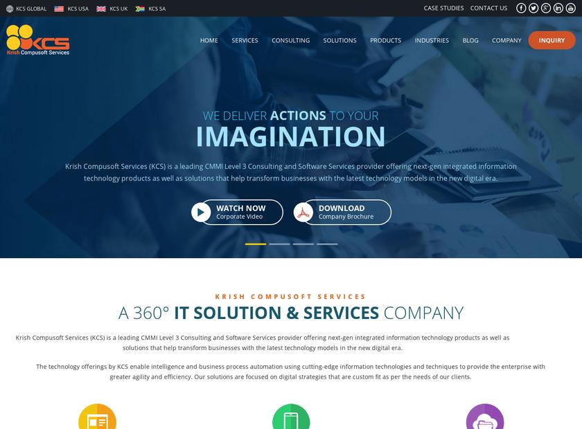 KRISH COMPUSOFT SERVICES INC homepage screenshot