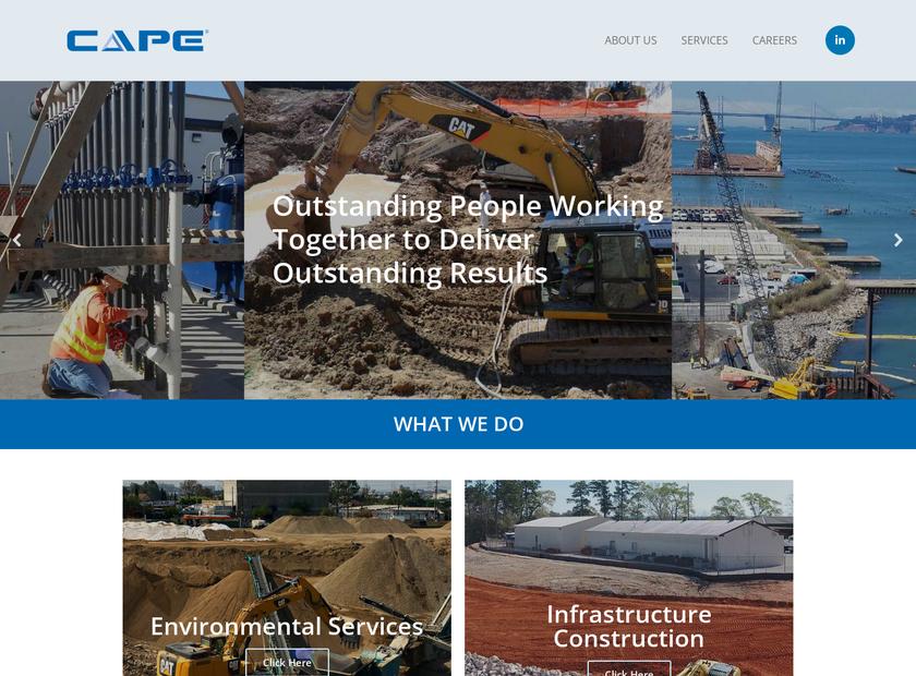 CAPE Environmental Management Inc homepage screenshot
