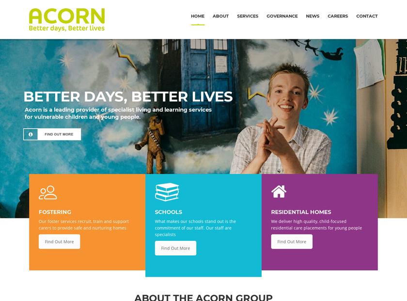Acorn Care homepage screenshot