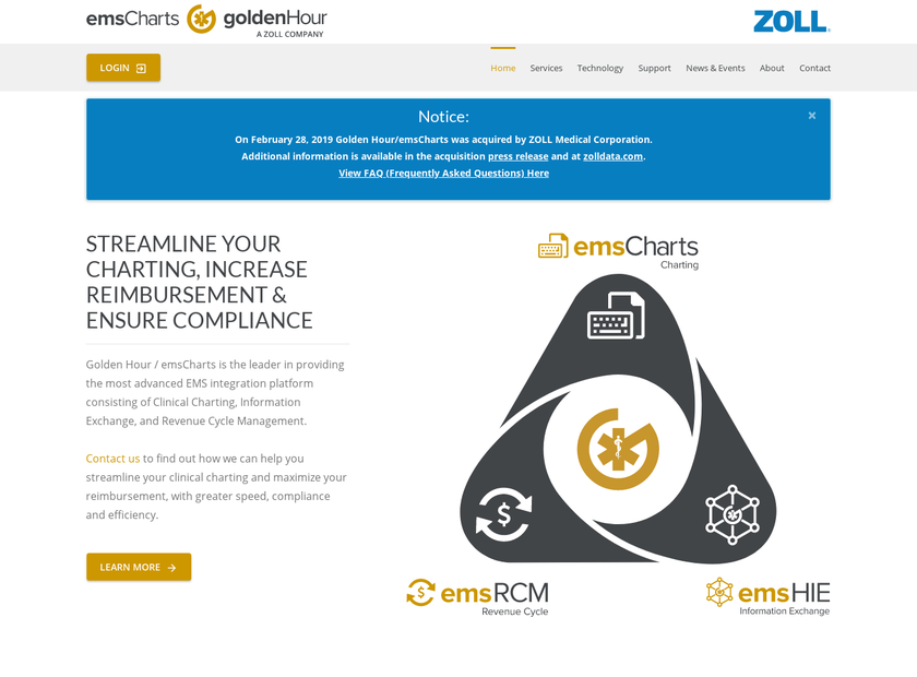 Golden Hour Data Systems , Inc. homepage screenshot