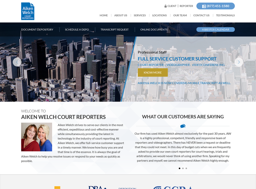 Aiken & Welch Inc homepage screenshot