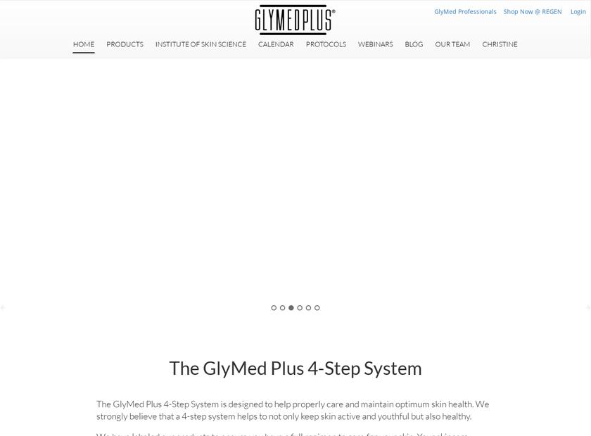 GlyMed Plus homepage screenshot