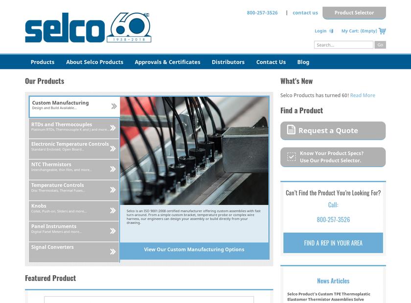 Selco Products Company homepage screenshot