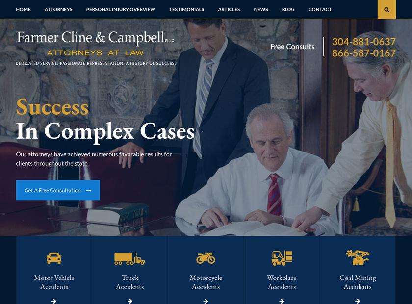 Farmer Cline & Campbell PLLC homepage screenshot