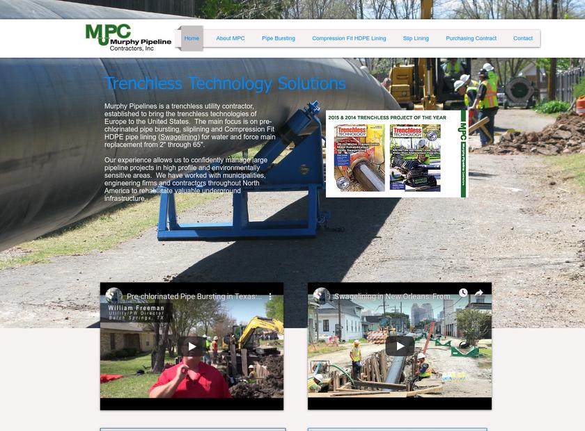 Murphy Pipeline Contractors Inc homepage screenshot