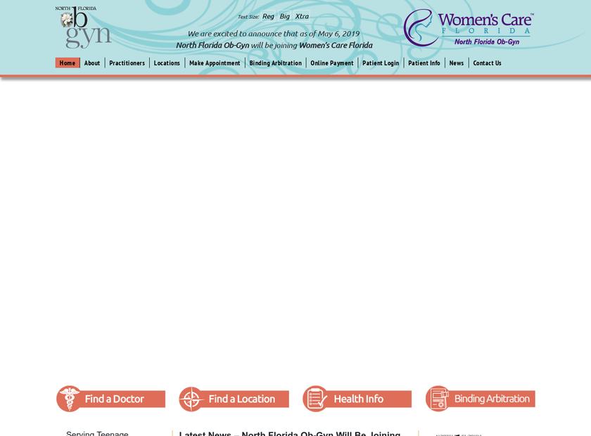 North Florida OB/GYN LLC homepage screenshot