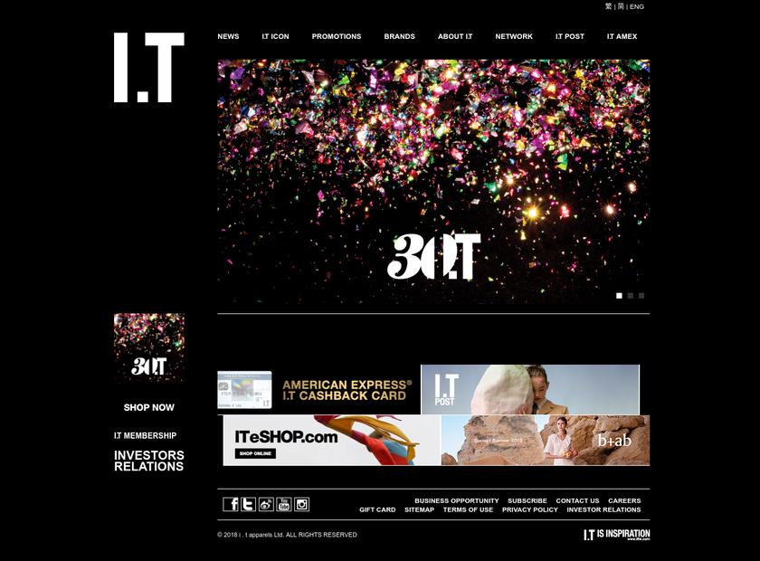 IT Ltd homepage screenshot