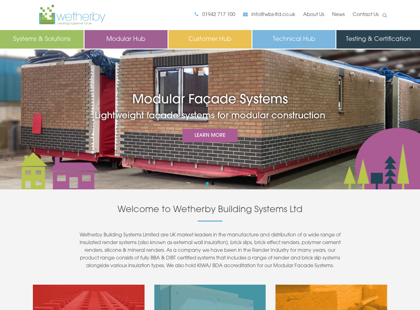 Wetherby Building Systems Ltd homepage screenshot