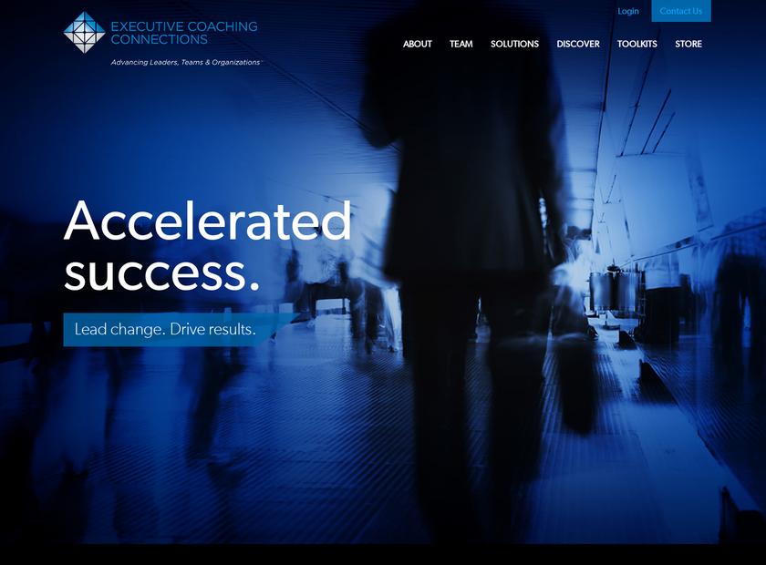 Executive Coaching Connections LLC homepage screenshot