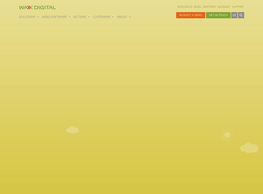 Wax Digital Limited homepage screenshot