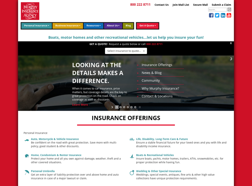 D. Francis Murphy Insurance Agency , Inc. homepage screenshot