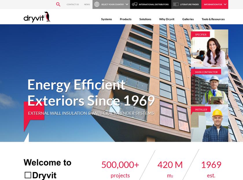 Dryvit UK Ltd. homepage screenshot