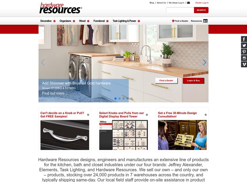 Hardware Resources homepage screenshot