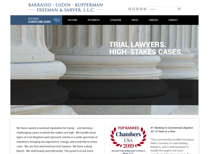 Barrasso Usdin Kupperman Freeman & Sarver L.L.C homepage screenshot