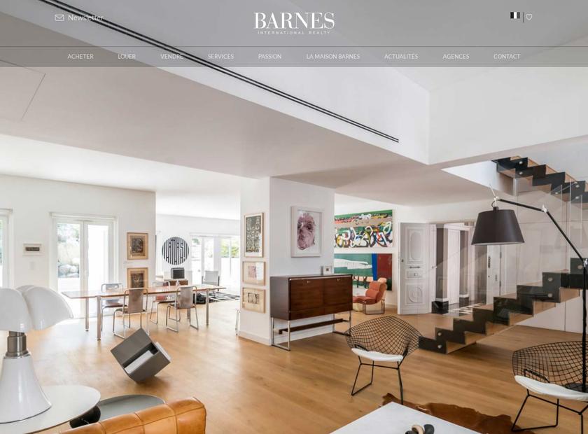 Barnes International homepage screenshot