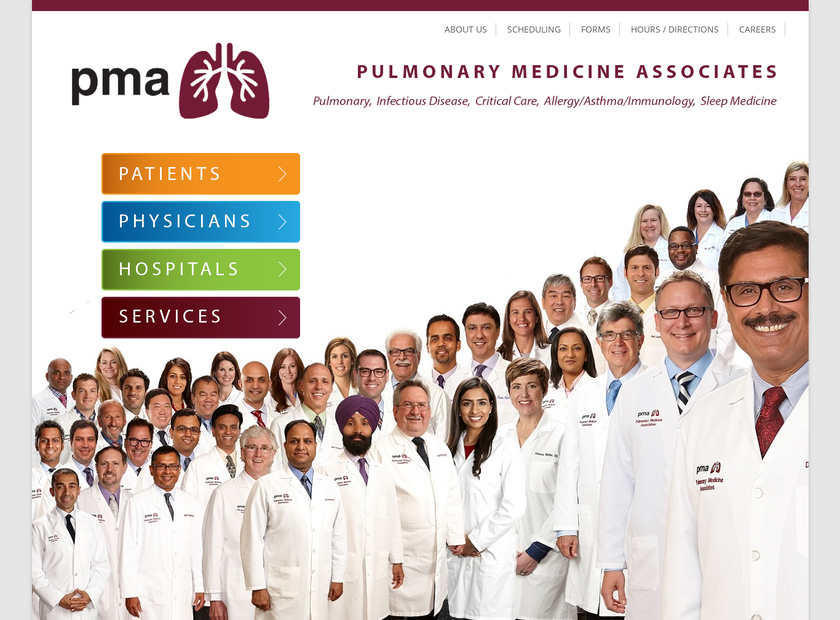 Pulmonary Medicine Associates homepage screenshot