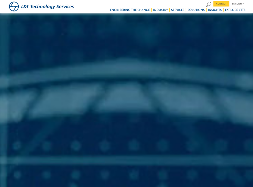 L&T Technology Services Limited homepage screenshot
