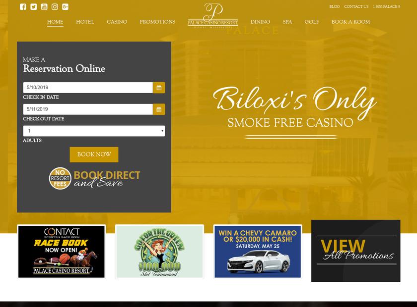 Palace Casino Resort LLC homepage screenshot