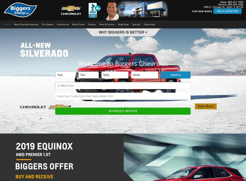 Biggers Chevy homepage screenshot