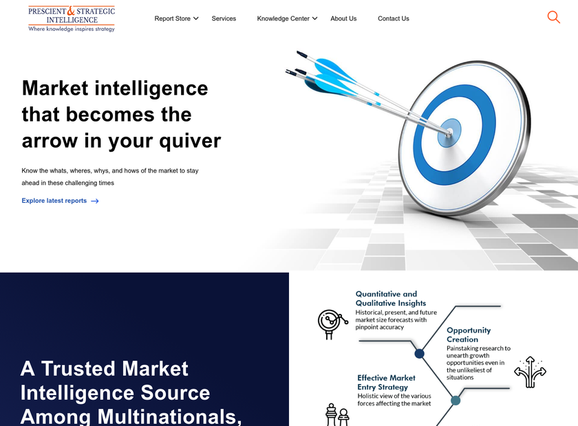 P&S Market Research homepage screenshot