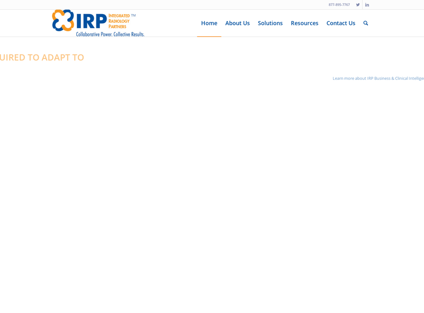 Integrated Radiology Partners homepage screenshot