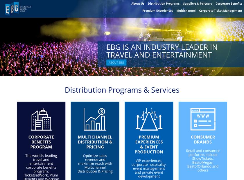 Entertainment Benefits Group Inc homepage screenshot