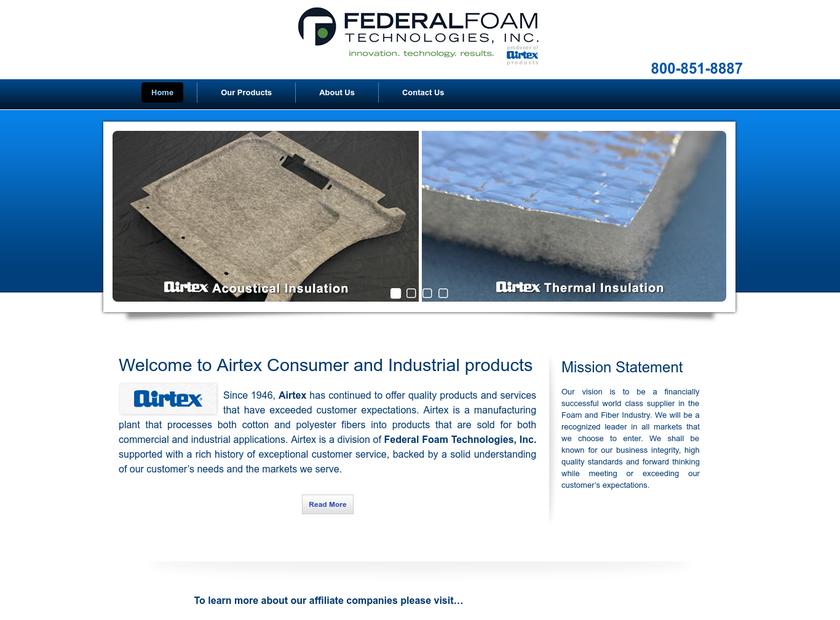 Airtex homepage screenshot