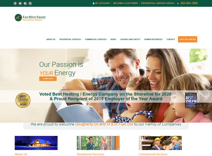 East River Energy homepage screenshot