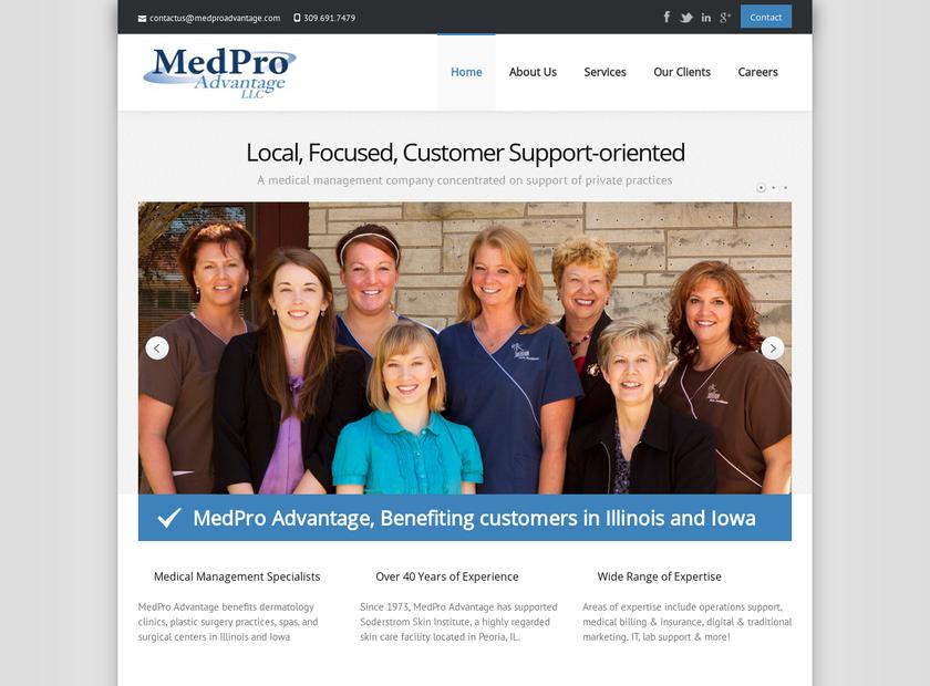 MedPro Advantage LLC homepage screenshot