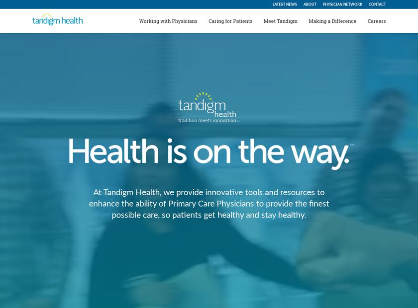 Tandigm Health LLC homepage screenshot