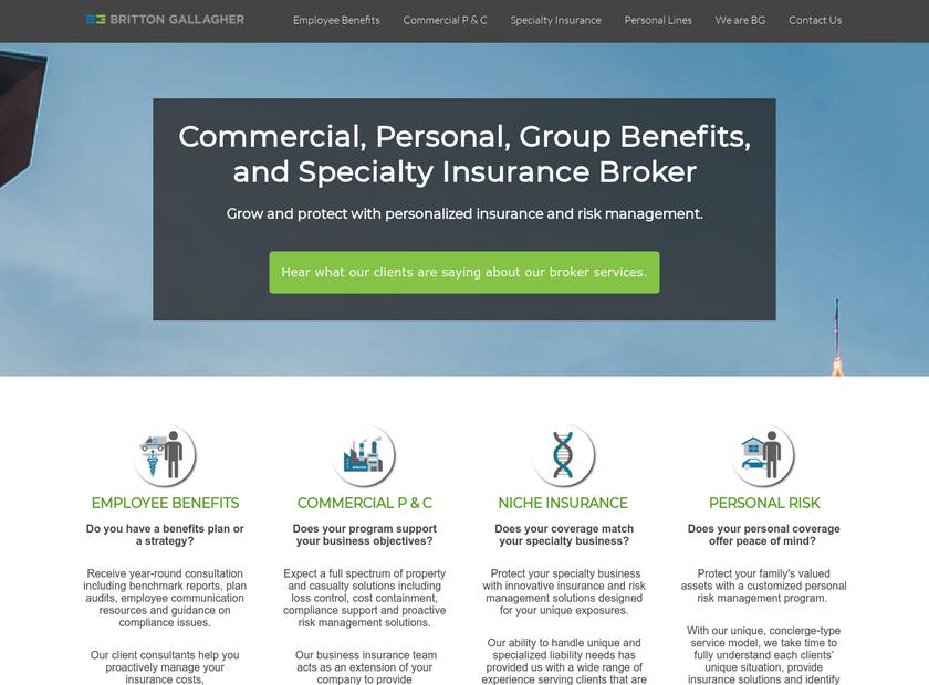 Britton-Gallagher & Associates , Inc. homepage screenshot