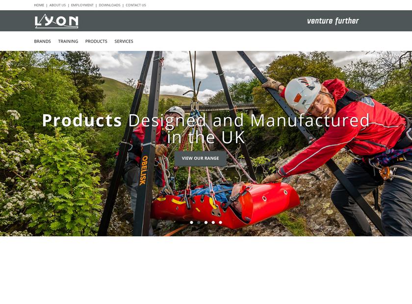 Lyon Equipment Limited homepage screenshot