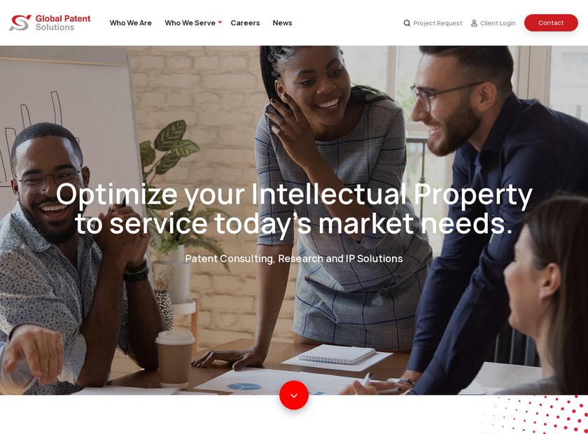 Global Patent Solutions LLC homepage screenshot