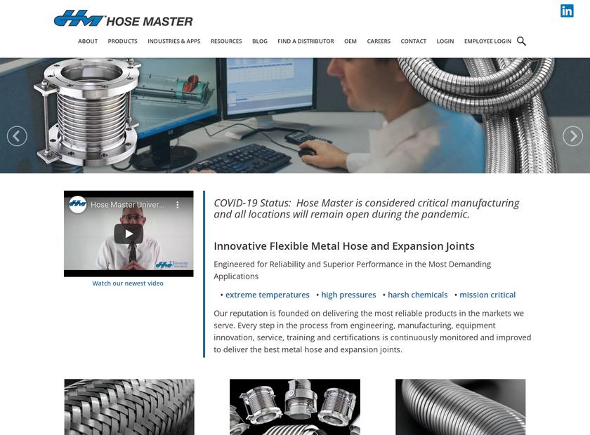 Hose Master LLC homepage screenshot
