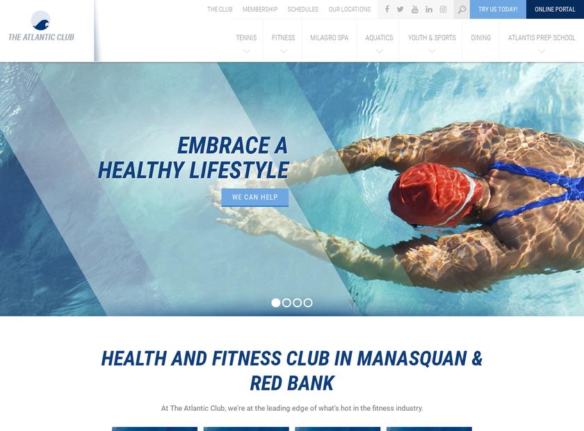 The Atlantic Club homepage screenshot