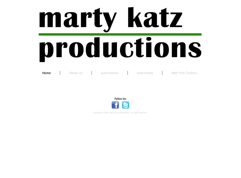 Marty Katz Productions Inc homepage screenshot
