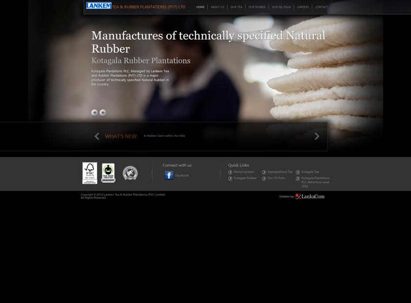 Kotagala Plantations PLC homepage screenshot