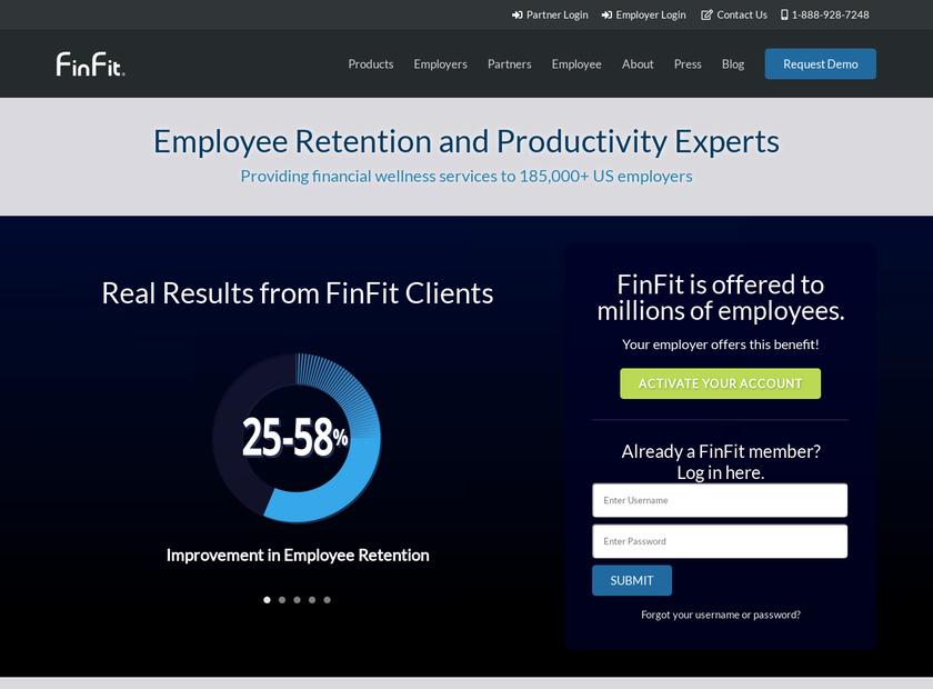 FinFit, LLC homepage screenshot