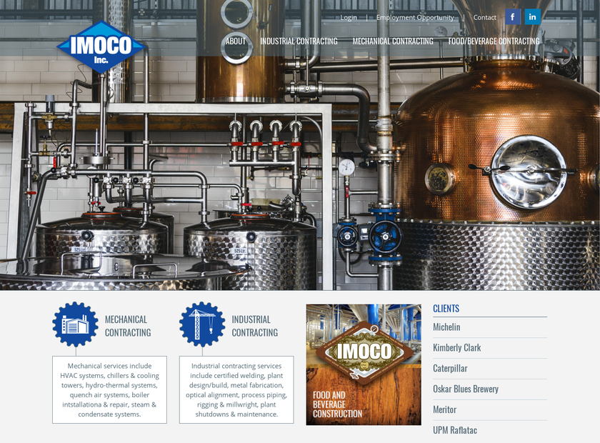 IMOCO Inc homepage screenshot