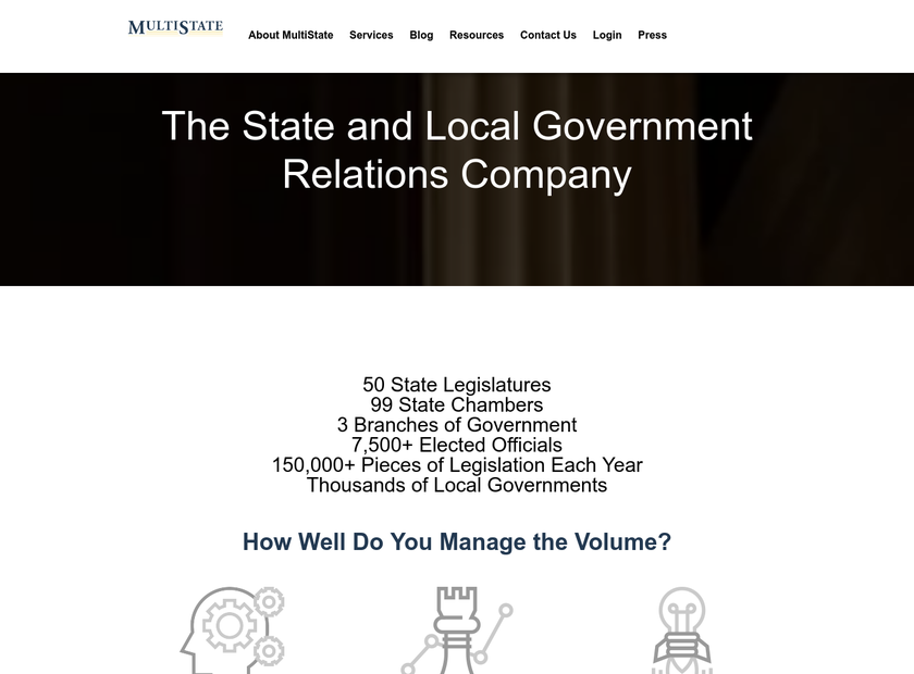 MultiState Associates Inc homepage screenshot