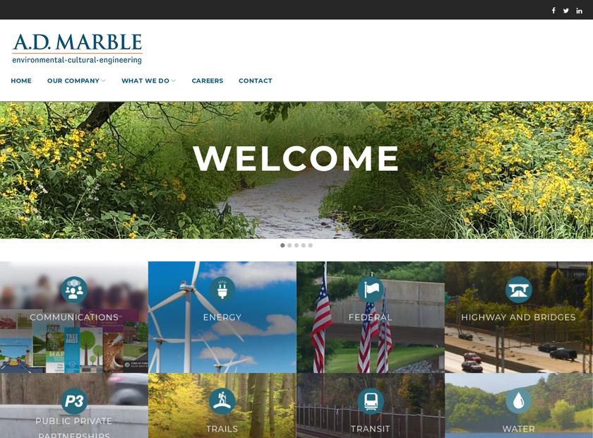 A.D. Marble & Company homepage screenshot
