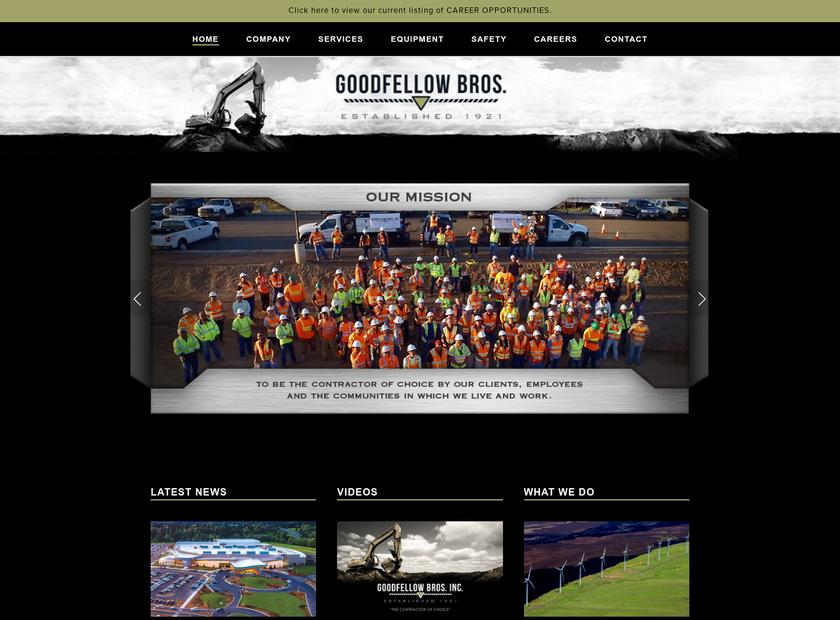 Goodfellow Bros., Inc. homepage screenshot